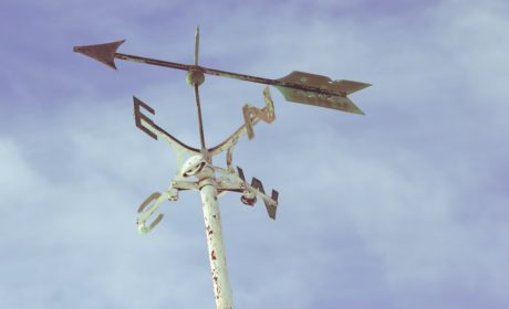 A weather-vane to represent having a coach