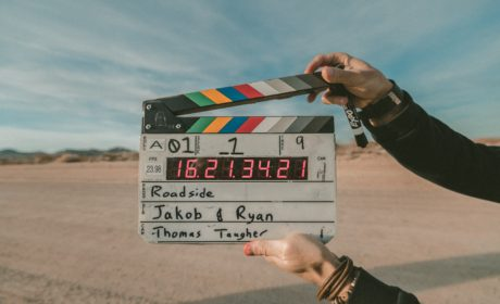 picture of a film director's clapper-board to represent video-based learning